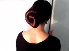 شعر الفتاة تسرب
