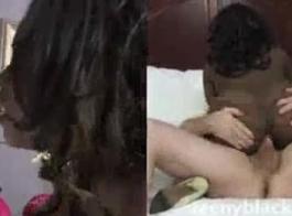 لقد استأجر الرجل الأسود خادمة وسيم لممارسة الجنس معه، حتى يصنع
