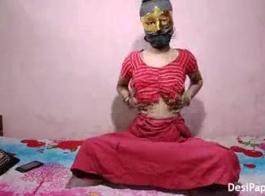يمنية تنتاك بفستان احمر