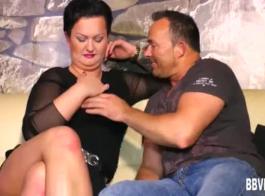السمين مفلس جبهة مورو ستيب موم يحصل كس يؤكل من قبل زوجها